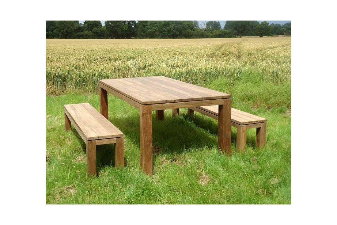 bali reclaimed teak bench set. Black Bedroom Furniture Sets. Home Design Ideas