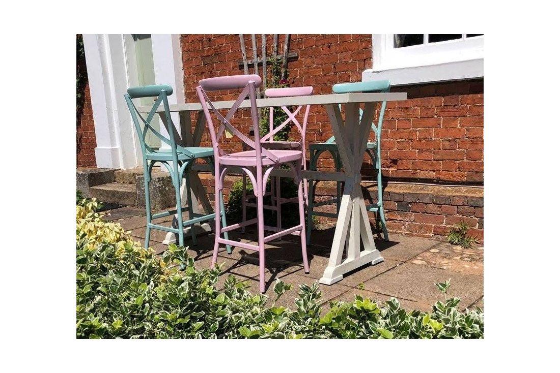 Retro 4 Chair Bar Set