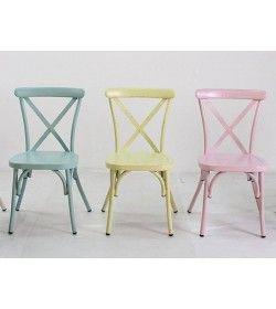Retro Cross Back Dining Chair