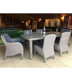 Meteor 6 Chair Dining Set