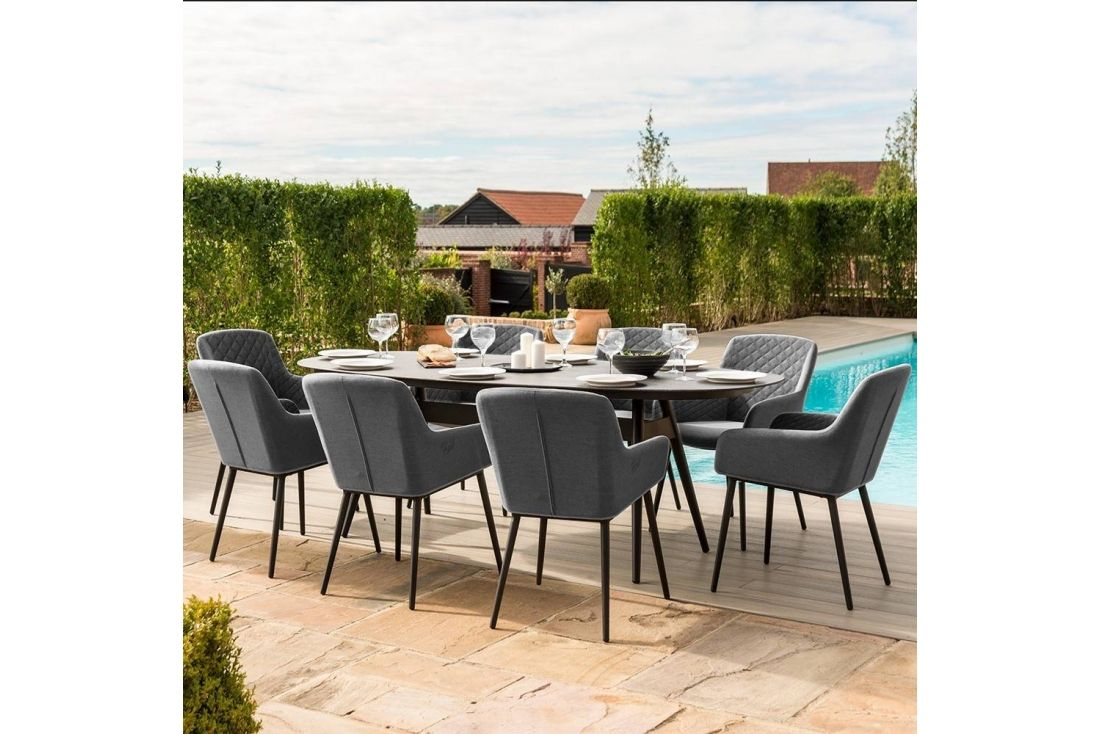 Zest 8 Seat Oval Dining Set