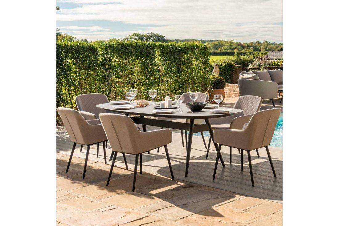 Zest 6 Seat Oval Dining Set
