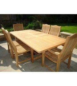 Malvern teak 6 chair dining