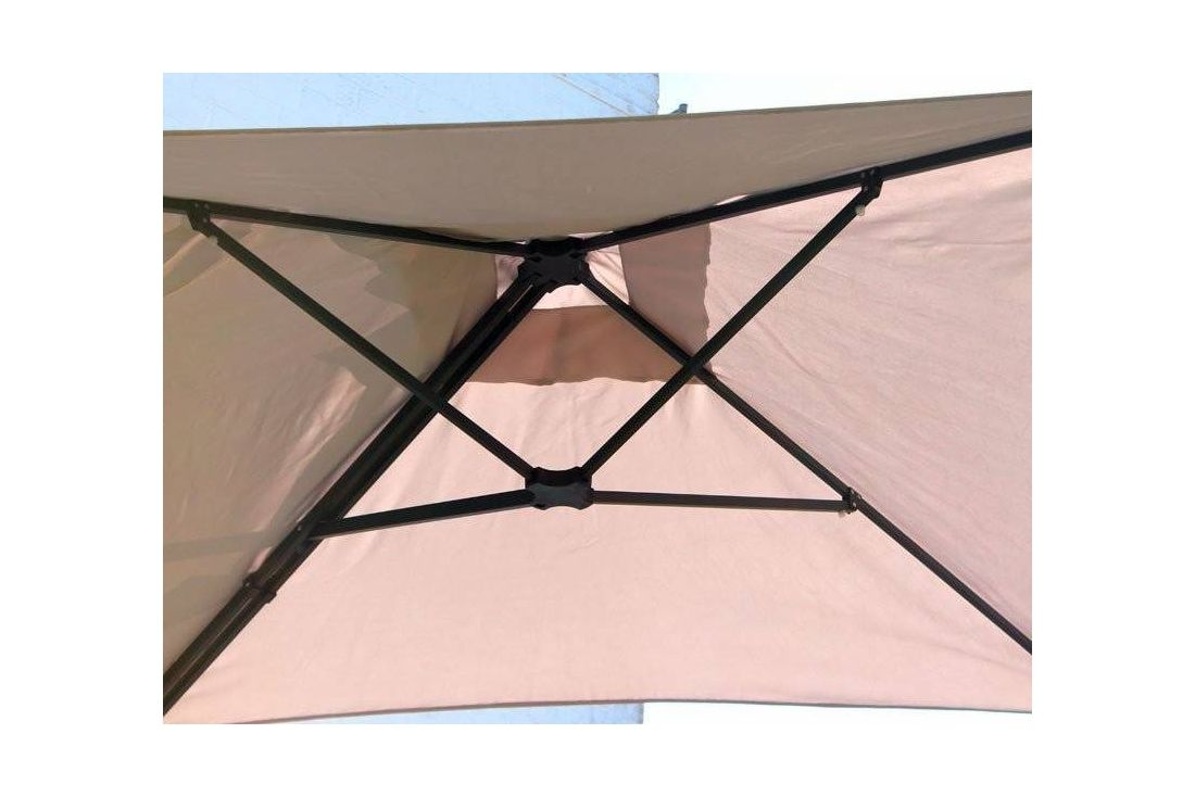 Square Wall Mounted Parasol - Beige