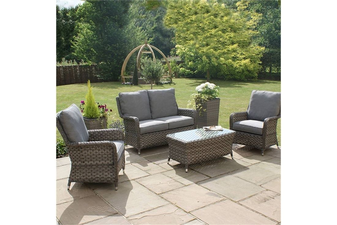 Tremendous Victoria 2 Seater High Back Sofa Set Outdoor Rattan Weave Caraccident5 Cool Chair Designs And Ideas Caraccident5Info