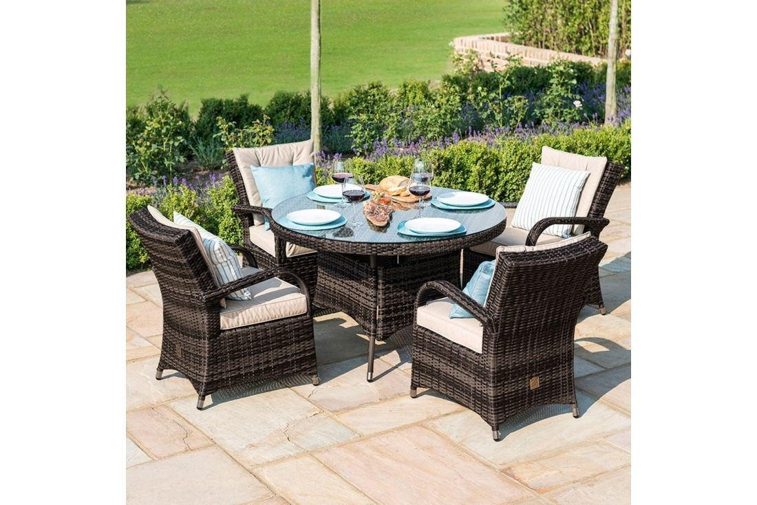 Texas 4 seater Round Dining Set