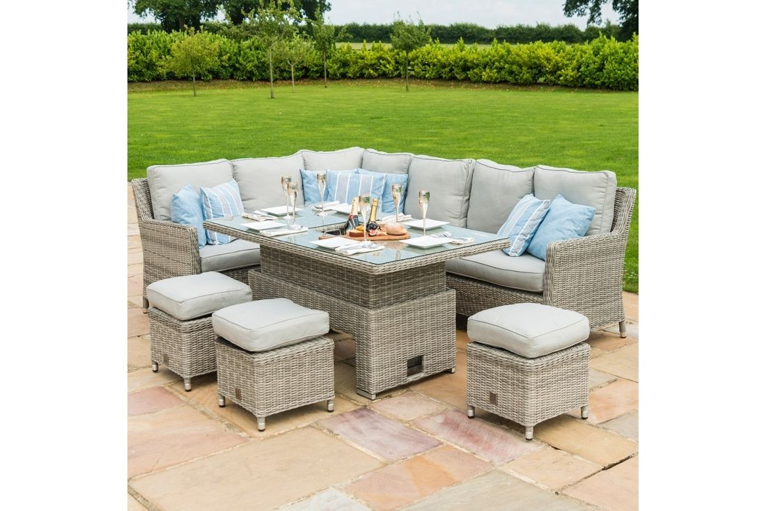 Picture of: Oxford Venice Corner Sofa Dining Set With Ice Bucket Rattan Furniture