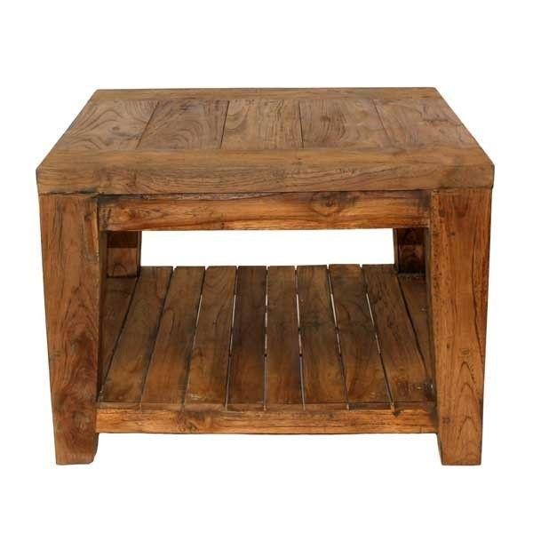 Excellent York Reclaimed Teak Side Table Inzonedesignstudio Interior Chair Design Inzonedesignstudiocom