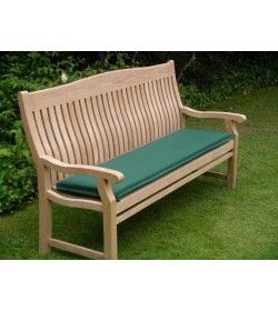 Outdoor cushion for 120cm bench - forest green