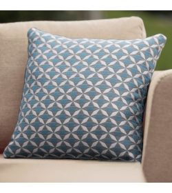 4 Scatter Cushions Mosaic Blue