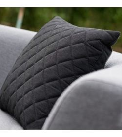 Scatter Cushions x 2 Quilted - Sooty