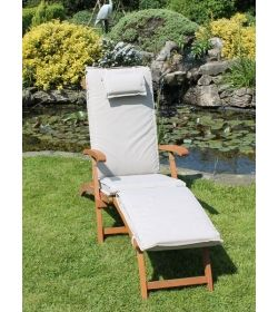 Steamer outdoor cushion - Bedrock