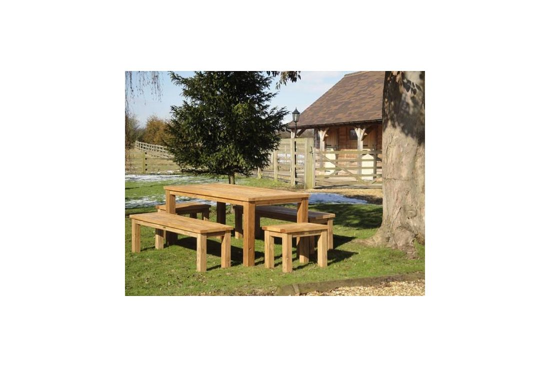 Regent 150cm table bench set out of stock