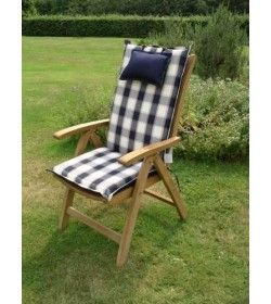 Recliner outdoor cushion - bluecheq