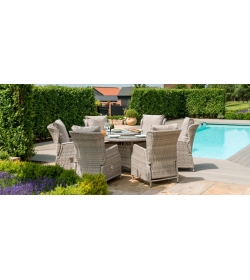 Cotswold Reclining 6 Seat Round Dining
