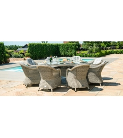 Oxford Heritage 8 Seater  Fire Pit Dining