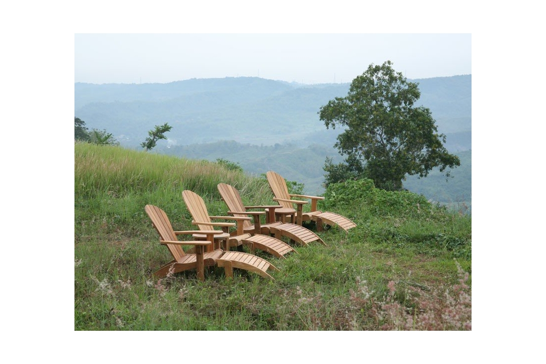Picture of: Double Adirondack Chair Set