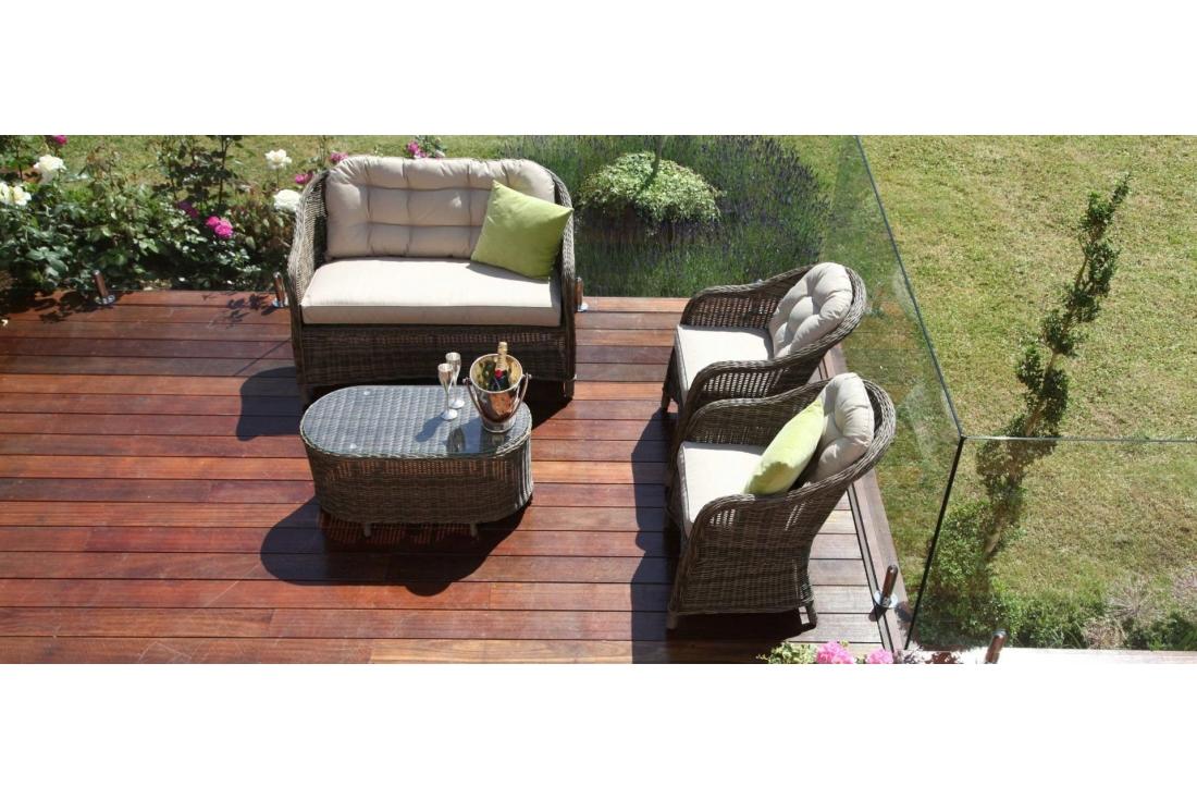 Winchester Rattan Garden Furniture Round High Back Sofa