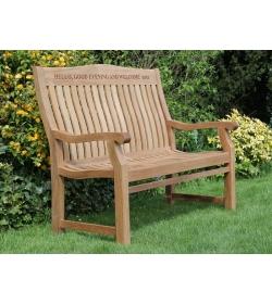 Malvern teak bench - 120cm