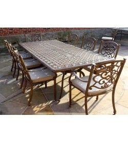 Showroom Offer Casino 8 Seater Large Rectangle Table and Chairs Set