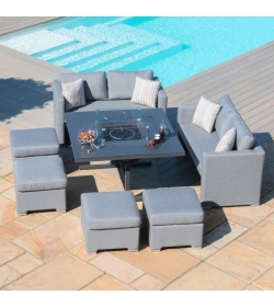Fuzion Cube Sofa Set With Firepit
