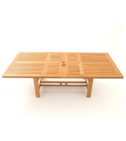 Chunky Rectangular Extending Teak Table