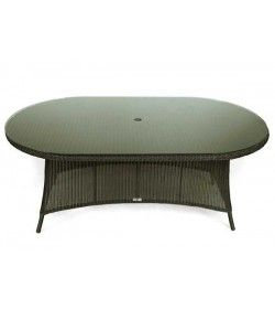Feri 250cm oval wicker table