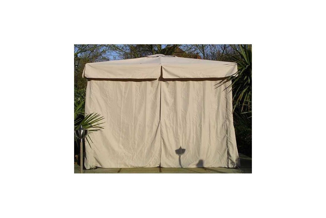 4m x 3m deluxe gazebo - side curtains