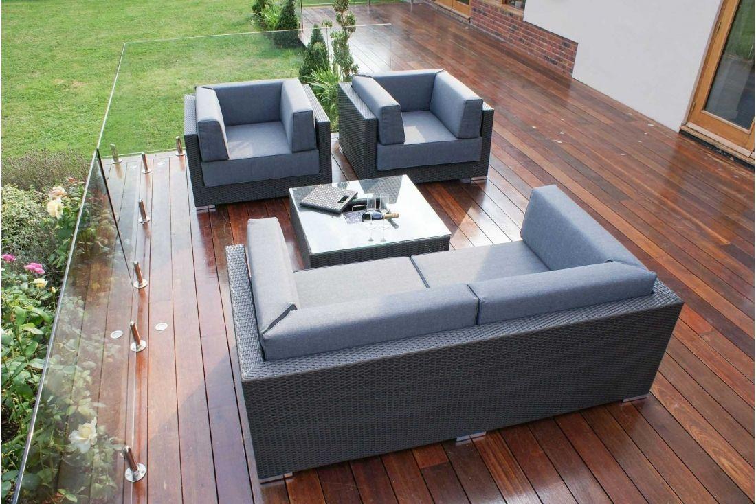 Monaco Sofa Set Brown weave