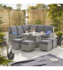 Skylar 1B Reclining Corner Dining Set with FirePit