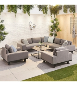 Tranquility Fabric Corner Sofa Set with 2 Armchairs