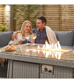 Ciara Left Corner Sofa Set with Firepit