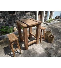 Reclaimed Teak Duo Bar Set