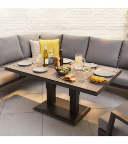 Vogue Corner Sofa Set with Rising Table