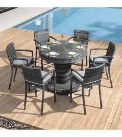 Henley 6 Seat Round Bar Set