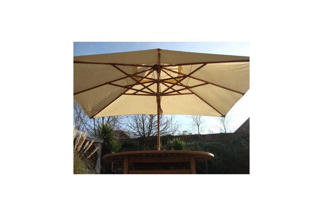 Parasol canopy- 400cm x 300cm rectangular - 8 pockets