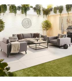 The Infinity Fabric 3 Seat Sofa Set