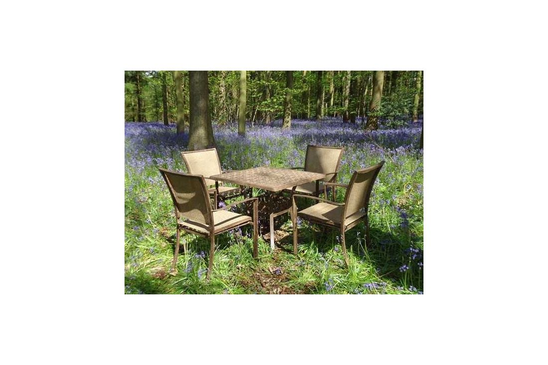 Leaf 4 seater square table &#39Set&#39