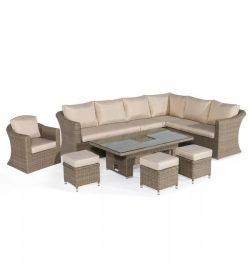 Winchester Deluxe Large Corner Dining Set - With Rising Table & Armchair
