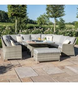 Oxford Royal U Shaped Sofa Set - With Fire Pit
