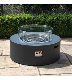 Gas Fire Pit Round Coffee Table