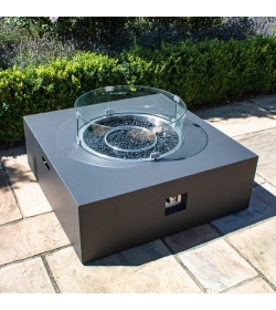 Gas Fire Pit Coffee Table Square