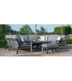 New York U Shaped Sofa Set - With Rising Table