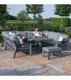 New York U Shaped Sofa Set - With Rising Table