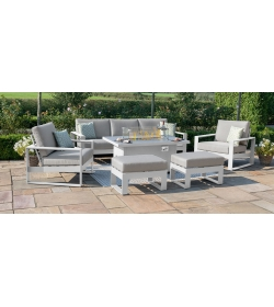 Amalfi 3 Seat Sofa Set with Firepit Table