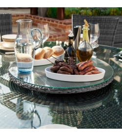 90cm Rotating Lazy Susan with Parasol Hole