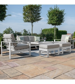 Amalfi 2 Seat Sofa Set with Rising Table