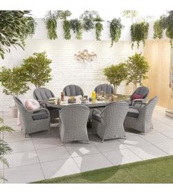 Leeanna 8 Seat Dining Set - 2.3m x 1.2m Oval Table
