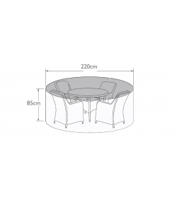 4 Seat Round Dining Set - Winter Cover
