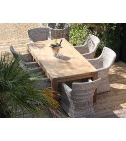 York 6 Chair Teak Table Set